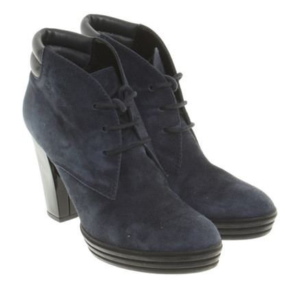 Hogan Suede Ankle Boots in blue