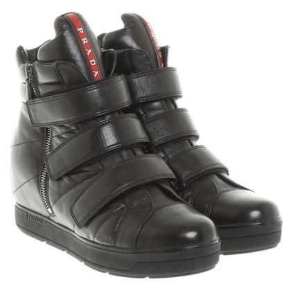 Prada Sneaker wedges made of leather