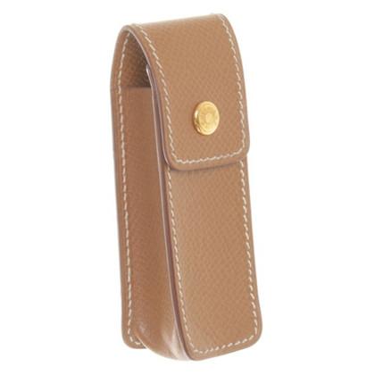 Hermès Leather case in Cognac