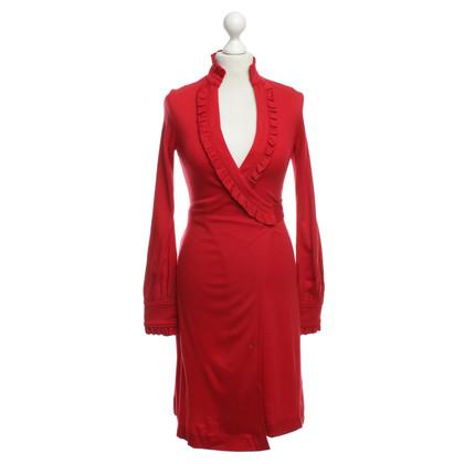 Diane von Furstenberg Vestito a portafoglio in rosso