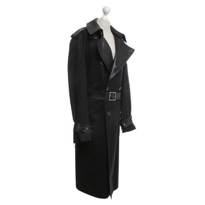 Versace Manteau en noir