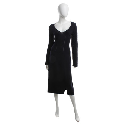 Jil Sander Gebreide jurk in donkerblauw