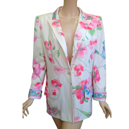 Leonard Blazer with a floral pattern