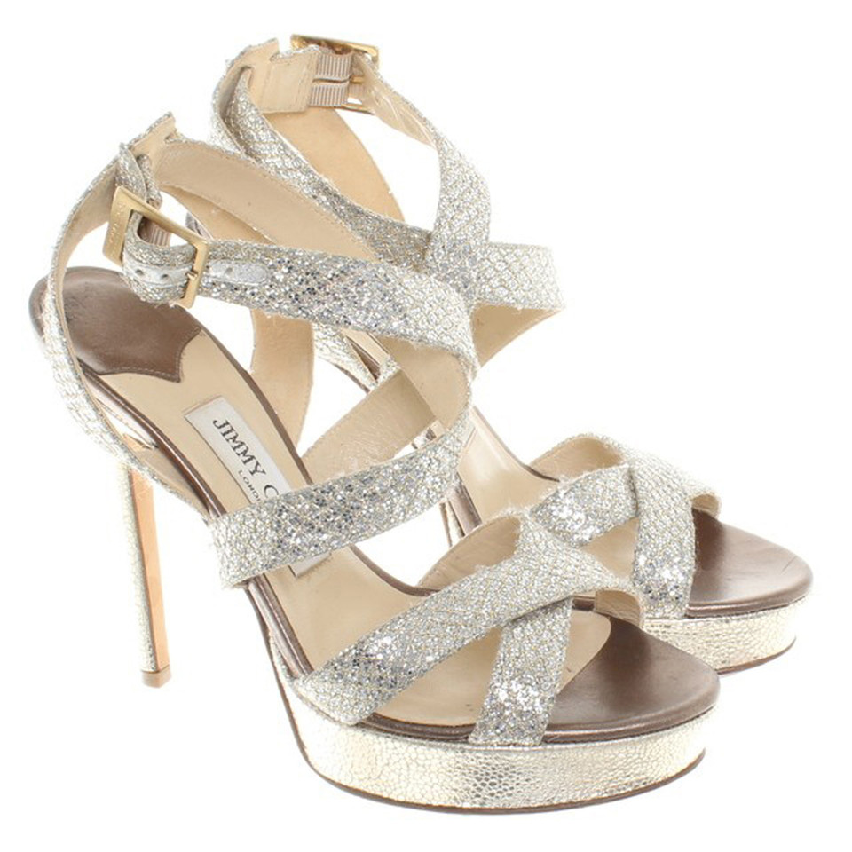 Jimmy Choo Sandals in silver