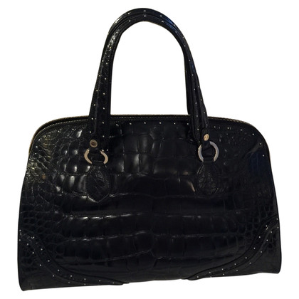 Bulgari Crocodile leather handbag