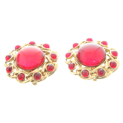 Escada Gold clip earrings
