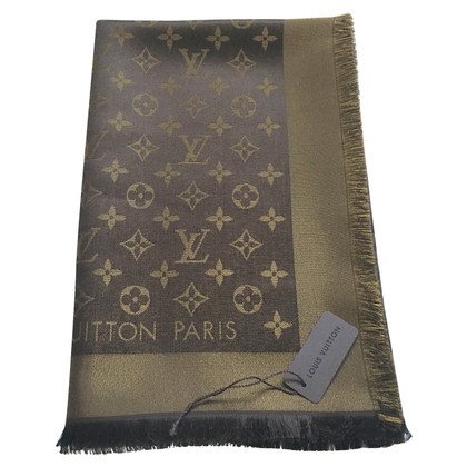 Louis Vuitton Scialle Monogram Marrone e Oro Shine