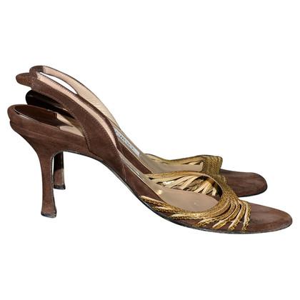 Jimmy Choo Sandaletten aus Veloursleder