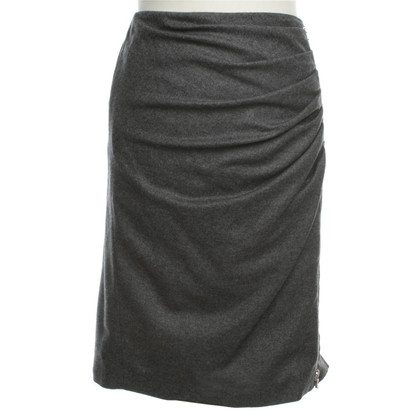 St. Emile Flannel skirt with ruffle