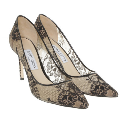 Jimmy Choo pumps with lace trim