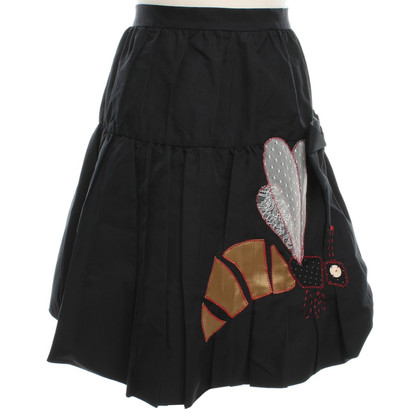Moschino Cheap and Chic Pleated Skirt in Black