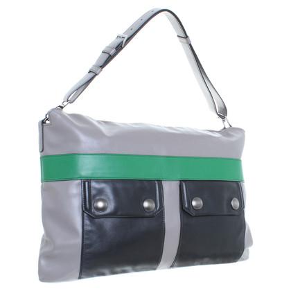 Miu Miu Handtas in grijs/zwart/groen