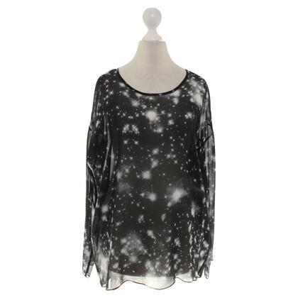 Lala Berlin blouse de soie en noir