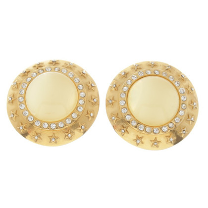 Chanel Earclips with rhinestones