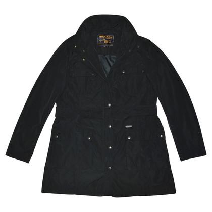 Woolrich Trench nero con cintura