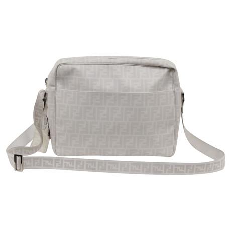 Rabatt Extrem 100% Authentisch Fendi Messenger Bag Weiß x74l9H