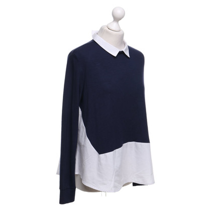 French Connection Top in donkerblauw / wit