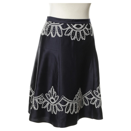 Tory Burch Silk skirt with embroidery