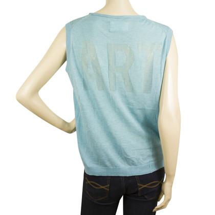 Zadig & Voltaire Hemd in turkoois blauw