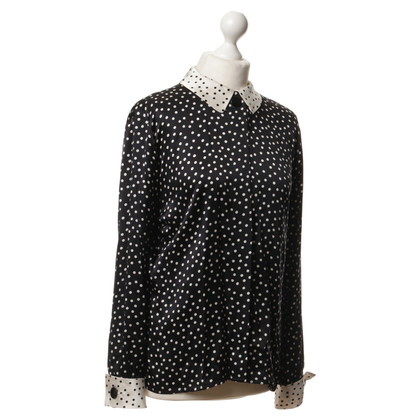 Akris Dotted silk blouse