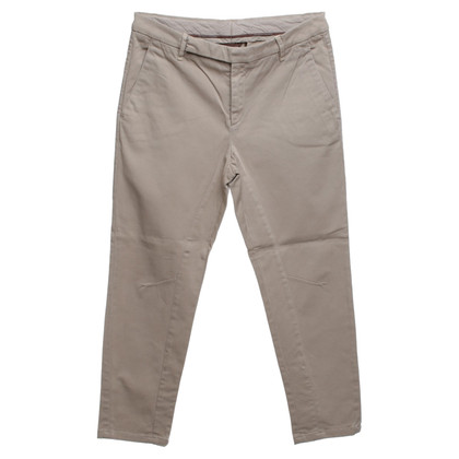 Brunello Cucinelli Cotton trousers in beige