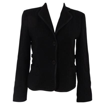 Valentino Valentino black cotton blazer jacket