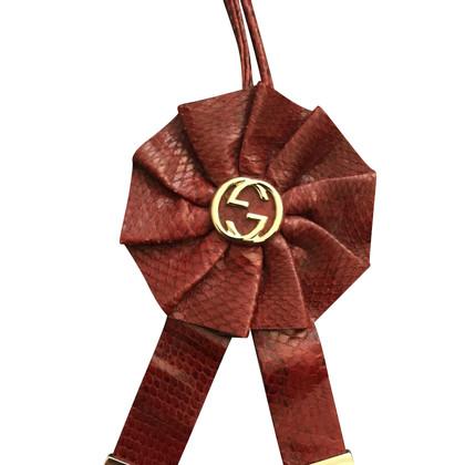 Gucci Skin Python Taschenanhänger