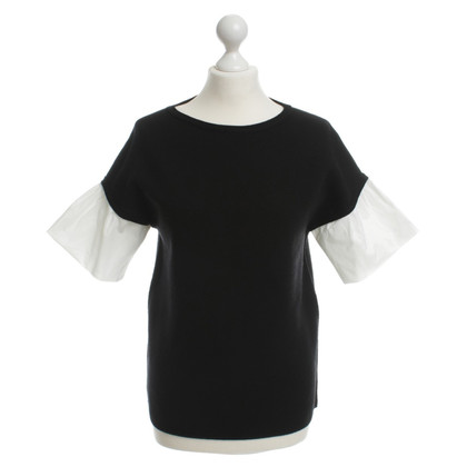 Paule Ka Top in zwart / wit