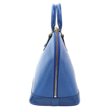 Louis Vuitton Alma Blue Epi Leather Hand Bag