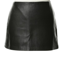 Zimmermann Leather skirt in black