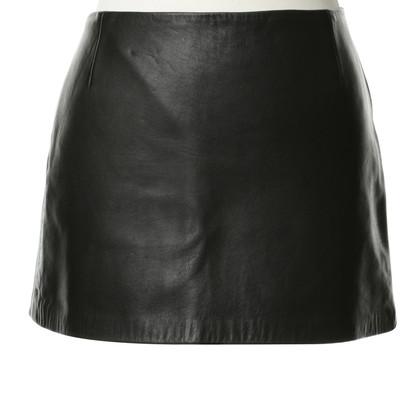 Zimmermann Lederen rok in zwart