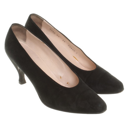 Jil Sander Wildleder-Pumps in Schwarz