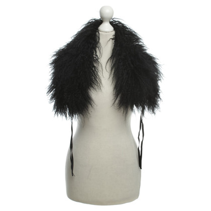 Other Designer Lamb fur collar in black