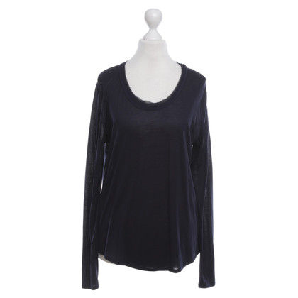 René Lezard Top in blu scuro