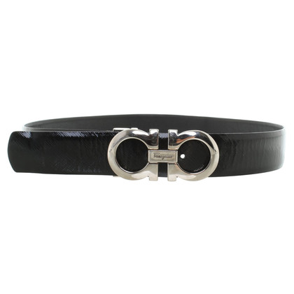 Salvatore Ferragamo Leather belt in black