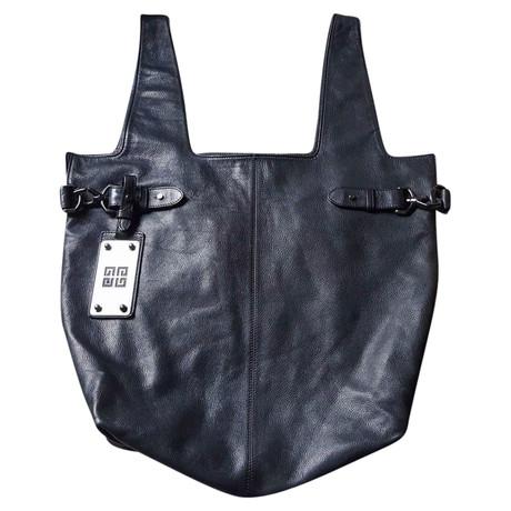 Givenchy Schwarze Lederhandtasche Schwarz Manchester Große Online-Verkauf Auslass Wirklich Outlet-Store Online CmAyzY
