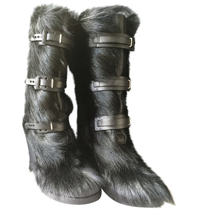 Céline Boots with fur