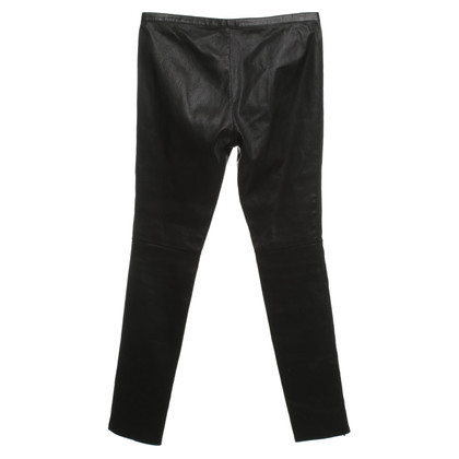 Sandro Leather trousers in dark brown
