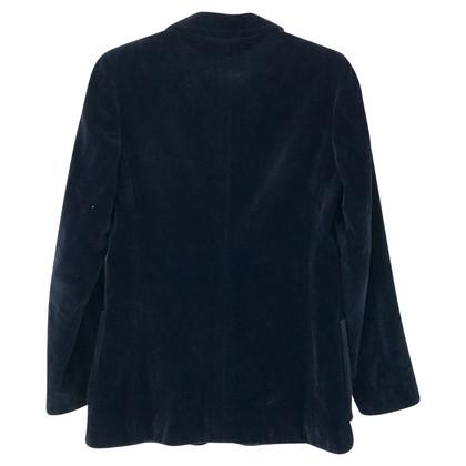 Blumarine Veste de velours bleu
