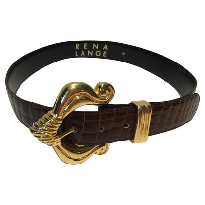 Rena Lange Vintage riem krokodillenleer