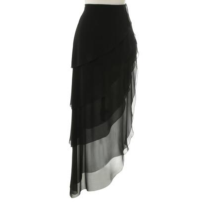 Chanel Zwarte zijden rok