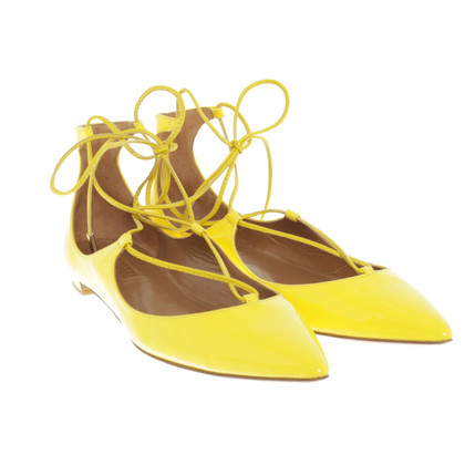 Aquazzura Ballerinas in yellow