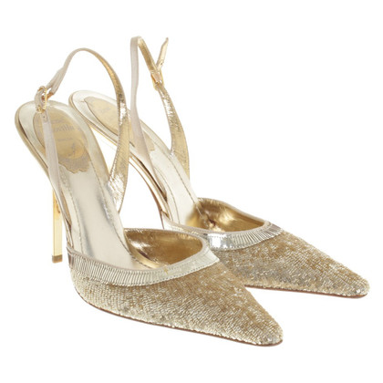 René Caovilla pumps with sequin trim