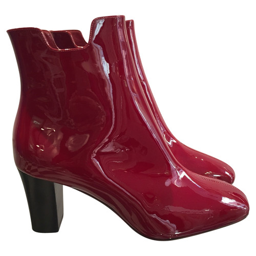 3edc22a6db8 Christian Louboutin Ankle boots Patent leather in Red - Second Hand ...