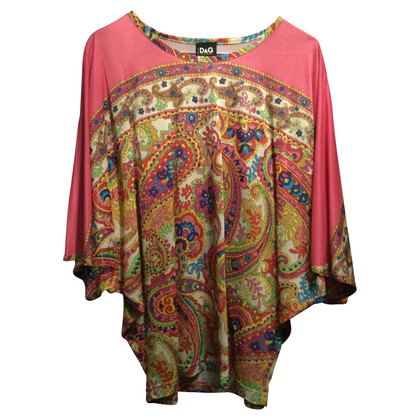 Dolce & Gabbana top with paisley pattern