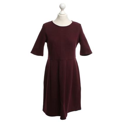 Hobbs Dress in Bordeaux red