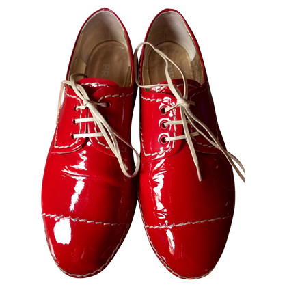 Prada Red lace-up shoes