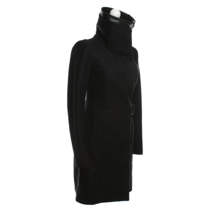 Patrizia Pepe Short coat with Mandarin collar