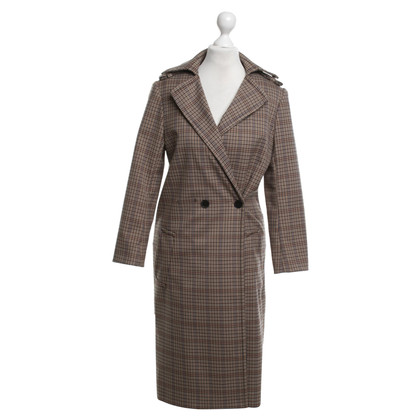 Sandro Coat with checked pattern