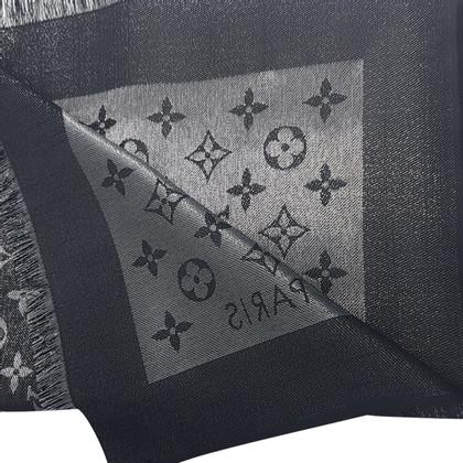 Louis Vuitton Monogram glansdoek in zwart
